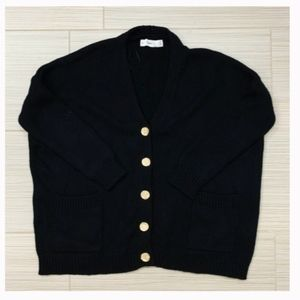 Zara Black Knit Cardigan Sweater